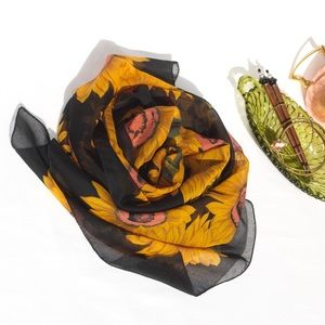Sunflower Sheer Scarf